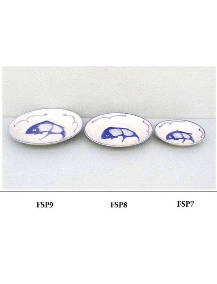 Fish' Shallow Plate 8&quot 蓝鱼餐谍