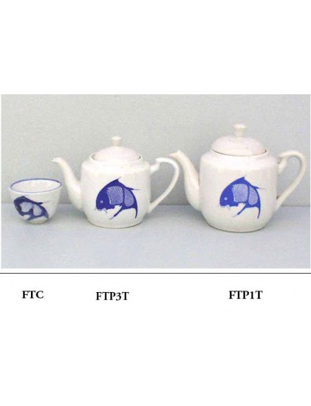 Fish Teapot Tall #3 蓝鱼小合壶