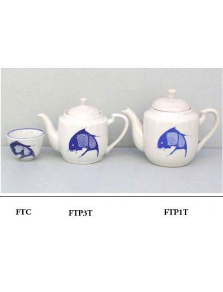 Fish Teapot Tall #3 蓝鱼小合壶