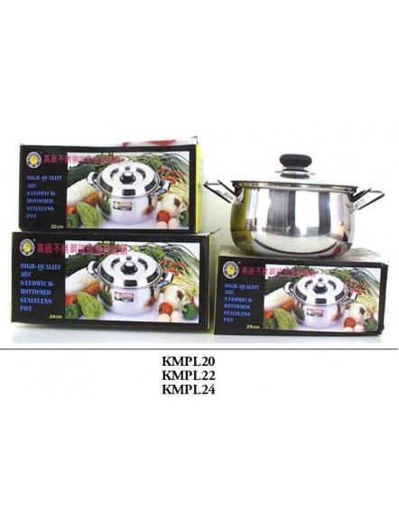 Cooking Pot S/S,24cm,low 不锈钢煲-矮