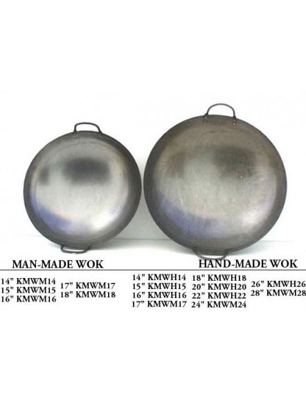 Iron Wok 14&quot,machine made 双耳机制铁镬