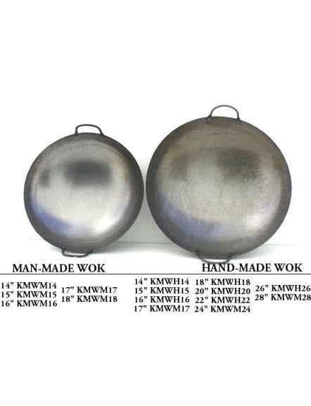 Iron Wok 17&quot,machine made 4 Nails 双耳机制铁镬