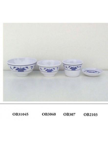 Blue L 3040  蓝荷鱼露碗
