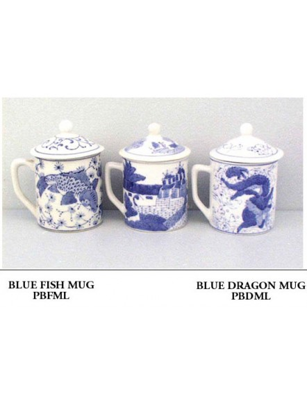 Blue Dragon Mug w/ Lid 蓝龙有盖茶杯