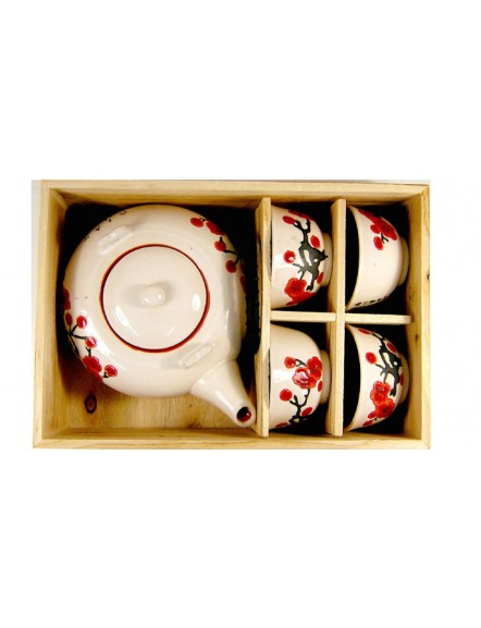 5pcs Flower White Teaset 日式茶具