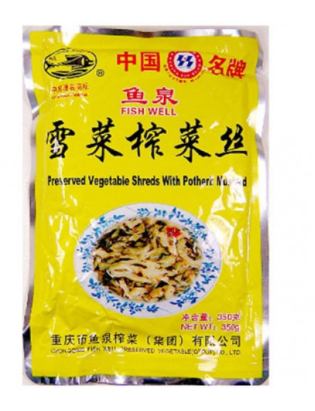 Veg. Shred with Potherb 350g 雪菜榨菜丝