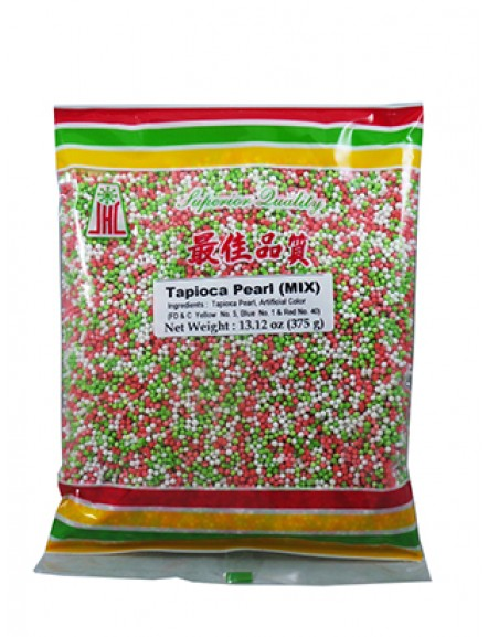 Tapioca Pearl Mix Color 375g 什色沙谷米
