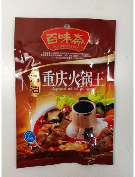 Rapeseed Oil Hot Hot Sauce 150g 百味斋清重慶火鍋王 (清油)