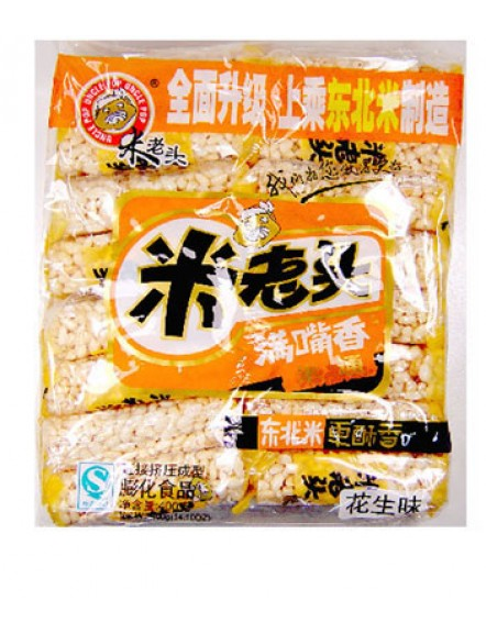 Rice Cake - Peanut 400g 米老头米通花生味