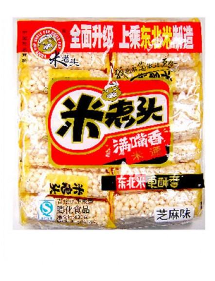 Rice Cake - Sesame 400g 米老头米通芝麻味